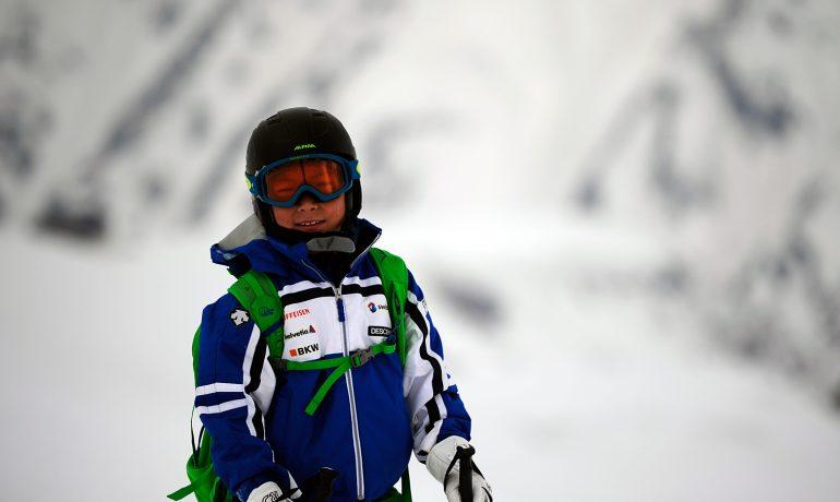 立山での山スキー