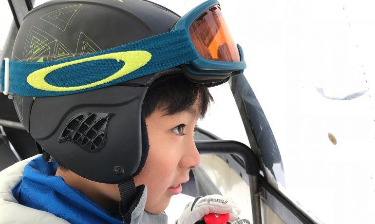 赤倉でスキー