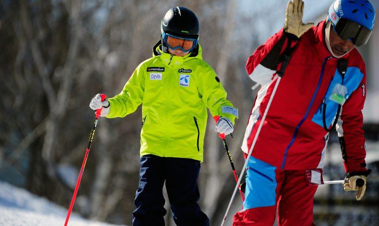 木島平でスキートレーニング